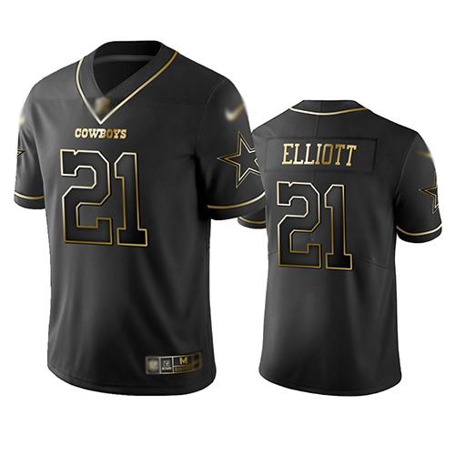 cheap 4x jerseys Men\'s Dallas Cowboys #21 Ezekiel Elliott Black ...